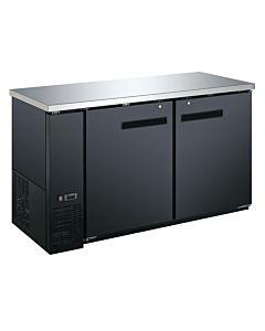 Coldline UBB-24-60F-HC 60″ Black Counter Height Narrow Solid Door Back Bar Refrigerator