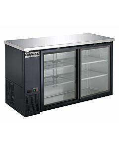 """Coldline UBB-24-60G-Y 60"""" Sliding Glass Door Back Bar Cooler, Black"""