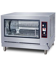 "Cookline GR-268 40"" 12 Chicken Countertop Gas Commercial Rotisserie Oven, 220V"