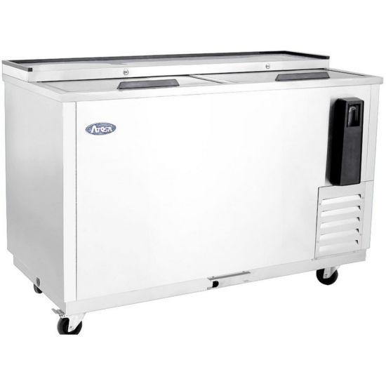 Asber ADBC-50 50‐1//2, 2 analog thermostat 12 oz bottle capacity Bottle Cooler 286 704 12 oz can or sliding lids,