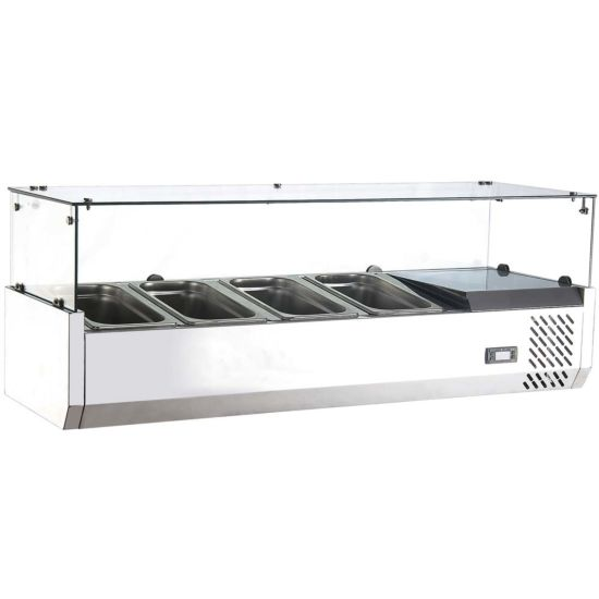 Marchia Mtr4 47 Refrigerated Countertop Salad Bar Topping Rail Kitchenall New York