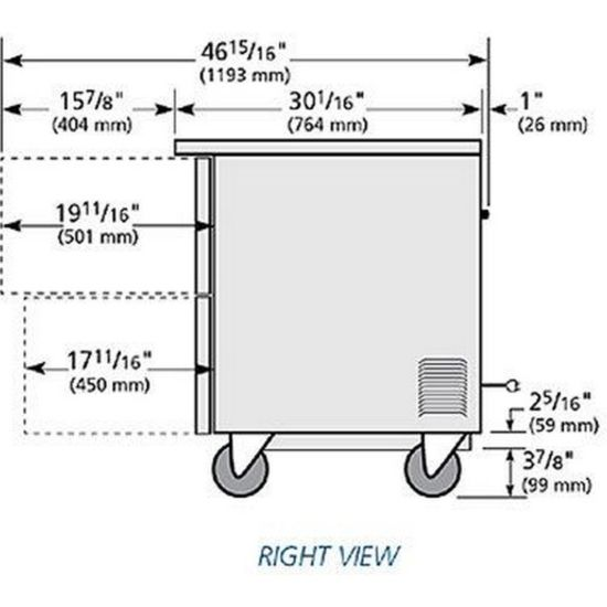 True TUC-48F-D-4-HC 12 cu ft Undercounter Freezer with (4) Sections & |  Kitchenall New York | True Freezer Tuc 48f Wiring Diagrams Model |  | Kitchenall