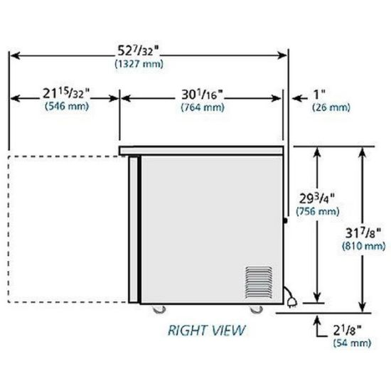 True TUC-48F-LP-HC 12 cu ft Undercounter Freezer with (2) Sections & ( |  Kitchenall New York | True Freezer Tuc 48f Wiring Diagrams Model |  | Kitchenall