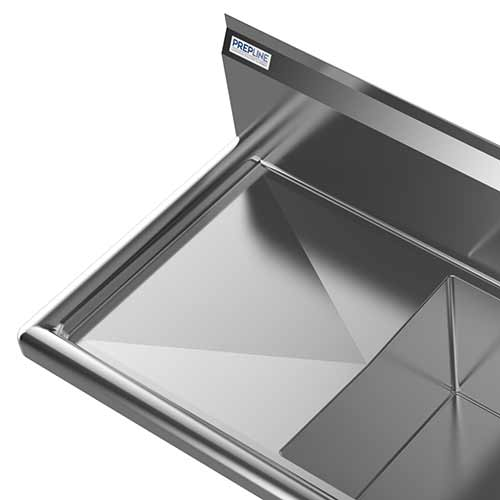 """Spacious 18"""" Left Side Drainboard"""