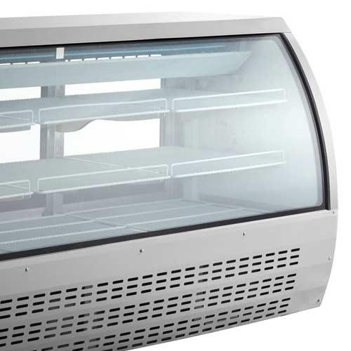Modern Curved Glass Deli Case Design