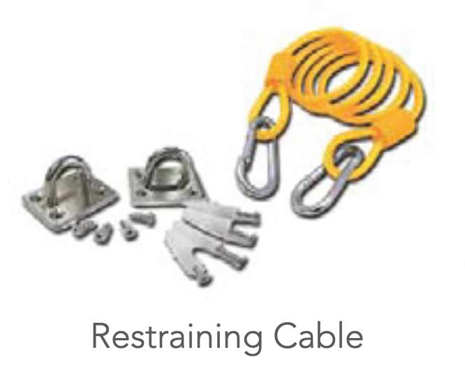 Restraining Cable Included