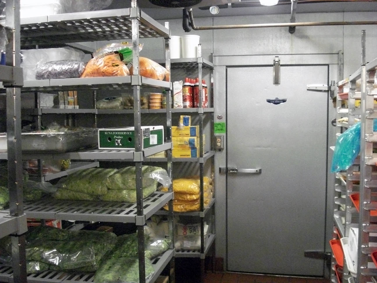 Commercial Walk in Cooler shown here.