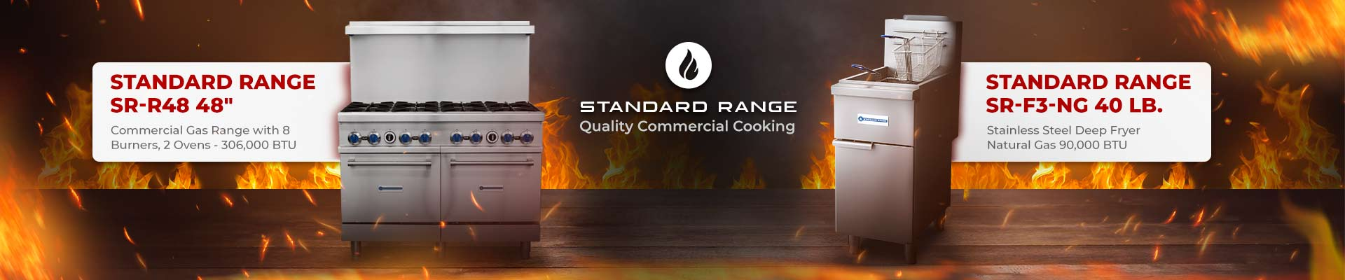 Standard Range Restaurant Ranges and Fryers